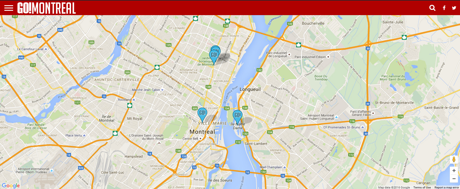 Montreal S Attractions Map Go Montreal Tourism Guide