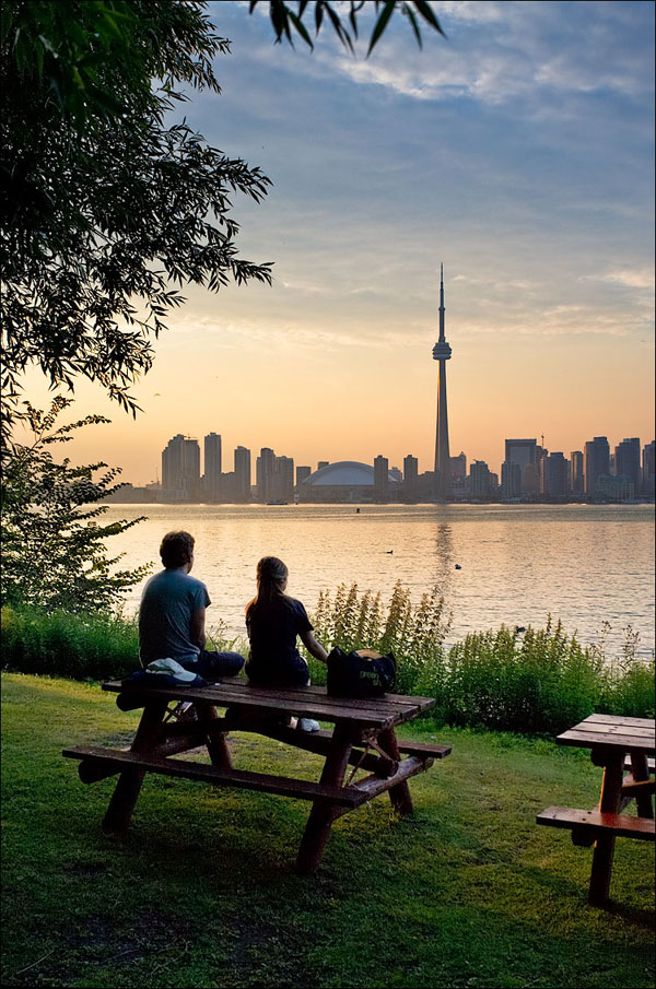 A View of Toronto from Centre Island