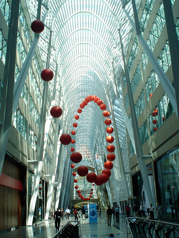 Long Wave installation for Luminato in Brookfield Place
