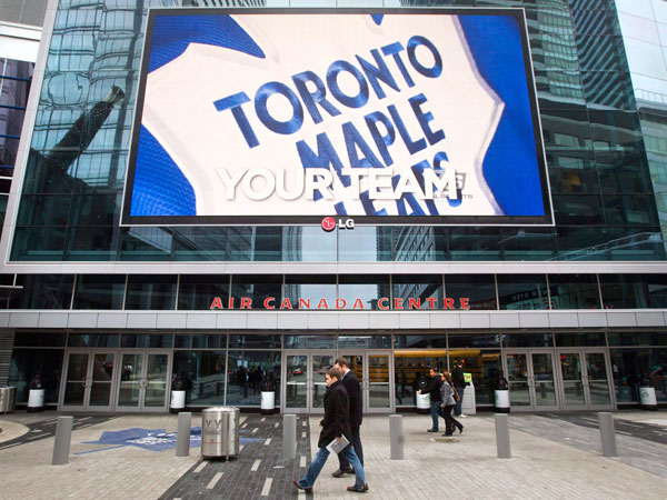 The Toronto Maple Leafs Logo at Air Canada Centre